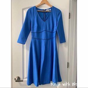 Blue 3/4 sleeve Boden work dress